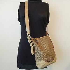Coach Jacquard/Leather/Suede Crossbody Bag NWT